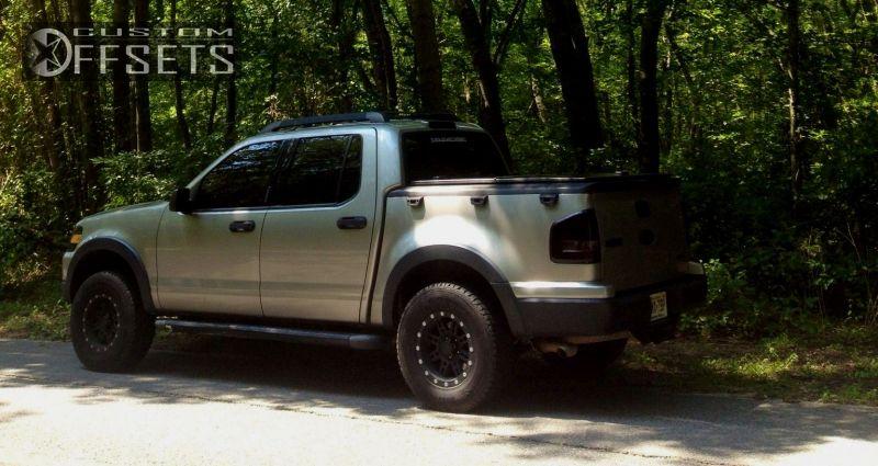 wheel offset 2008 ford explorer sport trac slightly aggressive suspension lift 3 custom rims. Black Bedroom Furniture Sets. Home Design Ideas