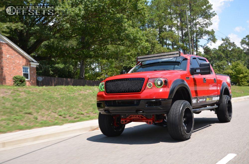 1 2005 F 150 Ford Suspension Lift 6 Fuel Nutz Black Super Aggressive 3 5