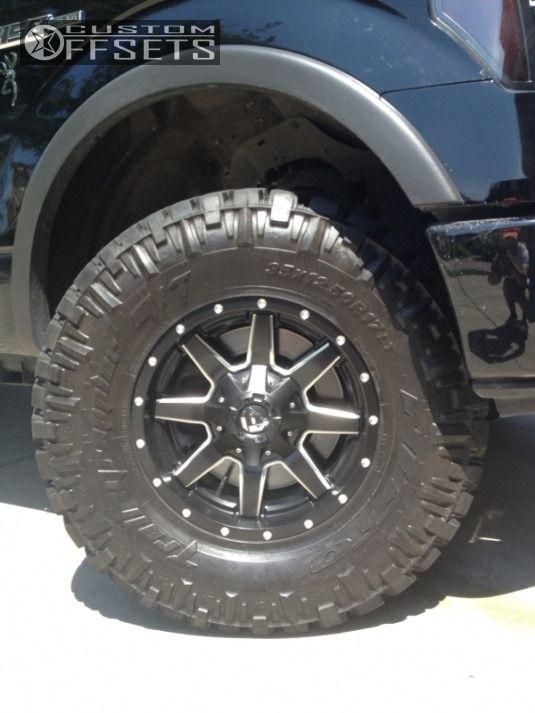 15 2013 F 150 Ford Leveling Kit Fuel Maverick Black Aggressive 1 Outside Fender
