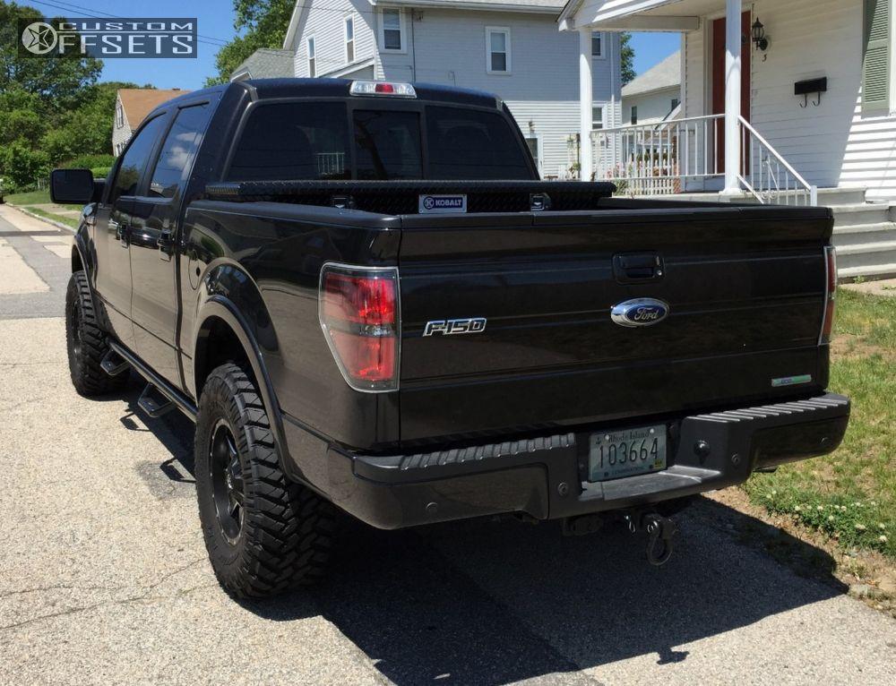 3 2013 F 150 Ford Leveling Kit Fuel Maverick Black Aggressive 1 Outside Fender