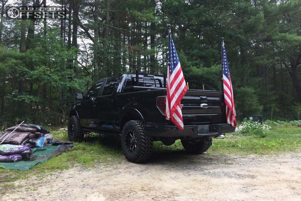 4 2013 F 150 Ford Leveling Kit Fuel Maverick Black Aggressive 1 Outside Fender