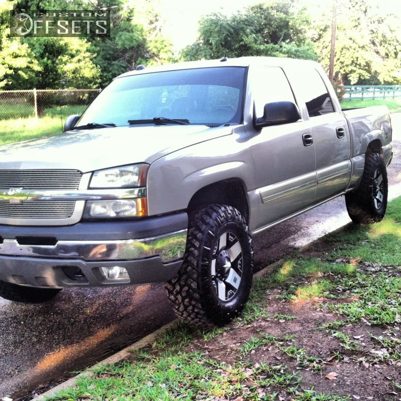 Silverado Chevrolet Leveling Kit Xd Rockstars Machined Accents Super Aggressive