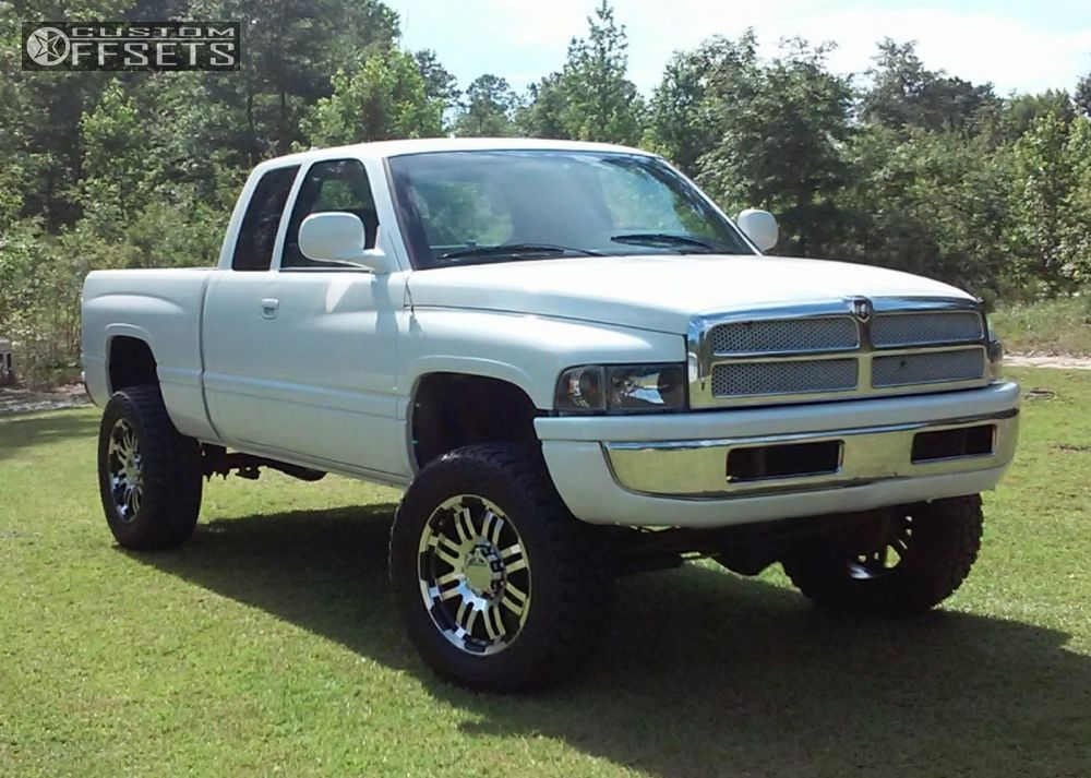 Ram Dodge Suspension Lift Vision Warrior Machined Accents Aggressive Outside Fender on 2001 Dodge 2500 Rims