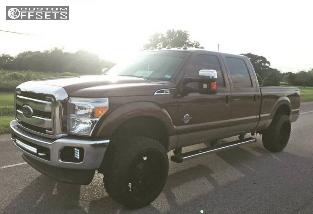 """2012 Ford F-350 Super Duty Super Aggressive 3""""-5"""" on 22x12 -44 offset XD Rockstar II and 33""""x12.5"""" Atturo Trail Blade Mt on Leveling Kit - Custom Offsets Gallery"""