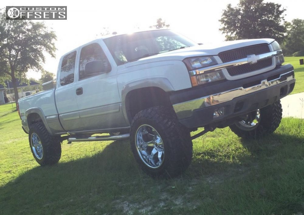 1 2004 Silverado 1500 Chevrolet Suspension Lift 6 Fuel Octane Chrome Aggressive 1 Outside Fender