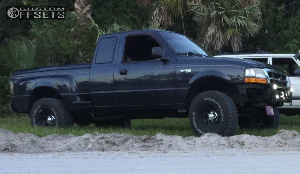 12 2000 ranger ford suspension lift 4 cragar soft 8 black slightly aggressive