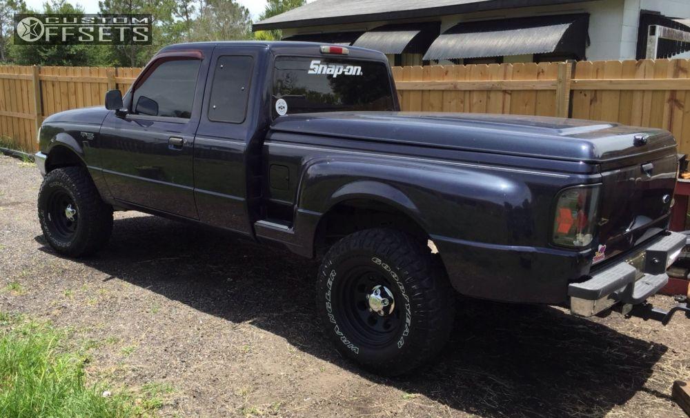 21311 5 2000 ranger ford suspension lift 4 cragar soft 8 black slightly aggressivejpg - 2000 Ford Ranger Black