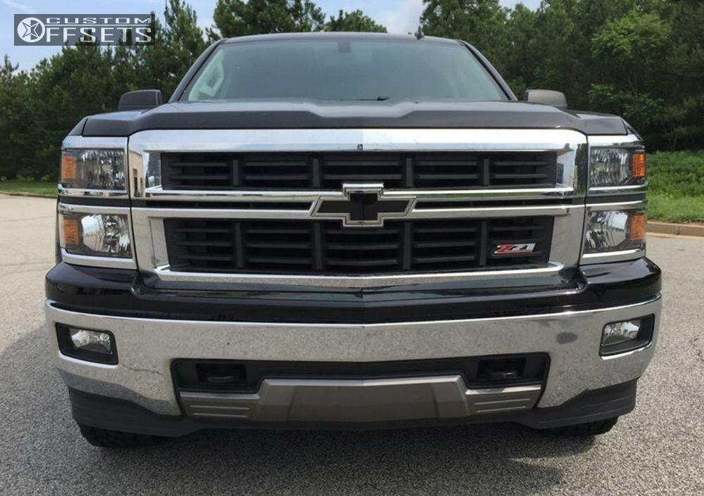 2 2014 Silverado 1500 Chevrolet Leveling Kit Fuel Assault Black Flush