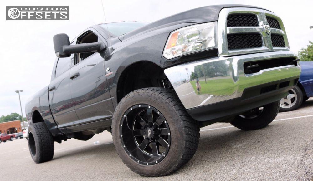 21577 1 2014 ram 2500 dodge leveling kit moto metal mo962 black super aggressive 3 5 - Dodge Ram 2500 44 2014