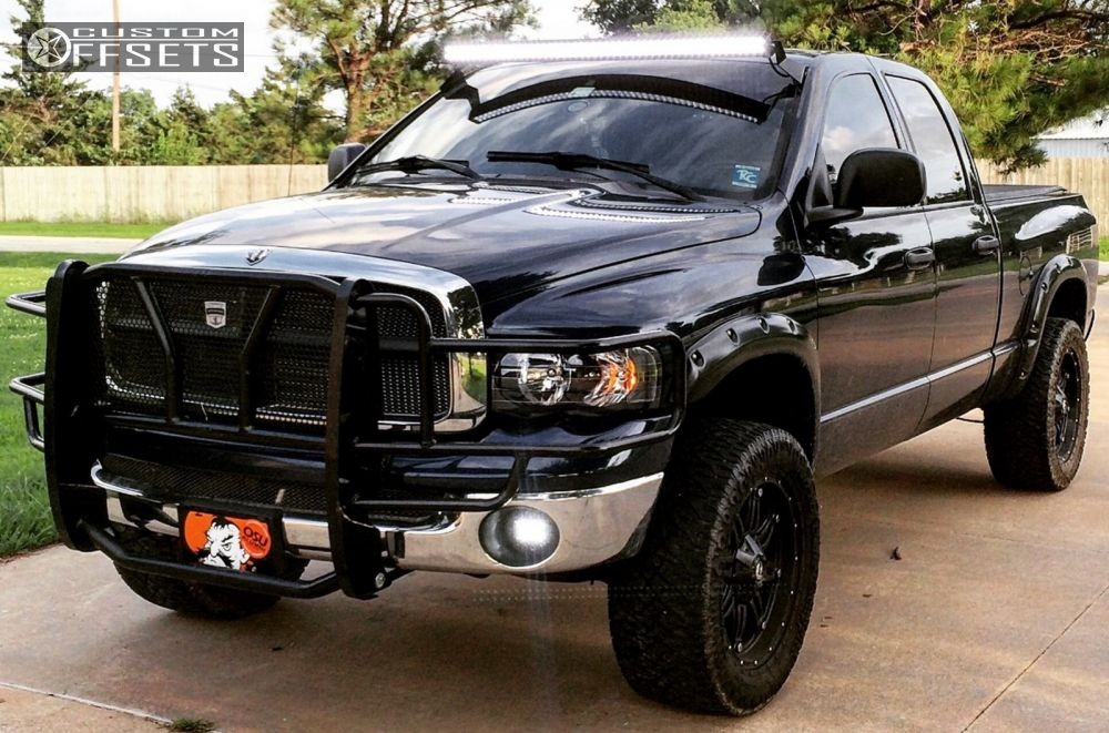 1 2004 Ram 1500 Dodge Leveling Kit Fuel Hostage Black Aggressive 1 Outside Fender