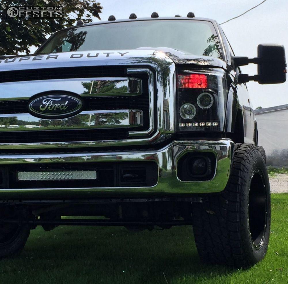 2011 Ford F 350 Super Duty Fuel Hostage Pro Comp Leveling Kit