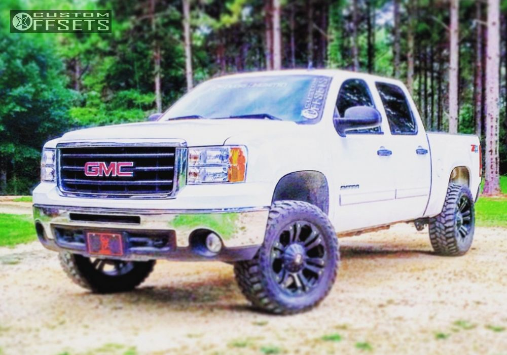 1 2010 Sierra 1500 Gmc Suspension Lift 45 Xd Monster Black Aggressive 1 Outside Fender