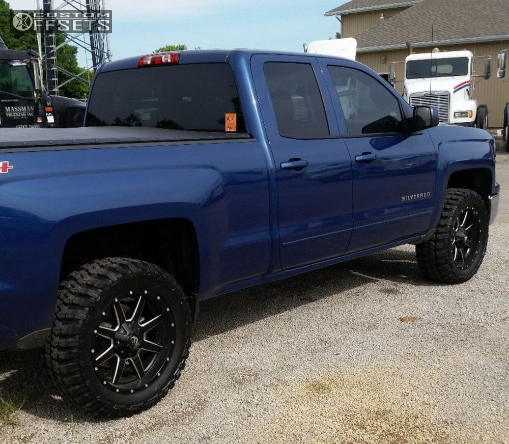 4 2015 silverado 1500 chevrolet leveling kit fuel maverick black slightly aggressive