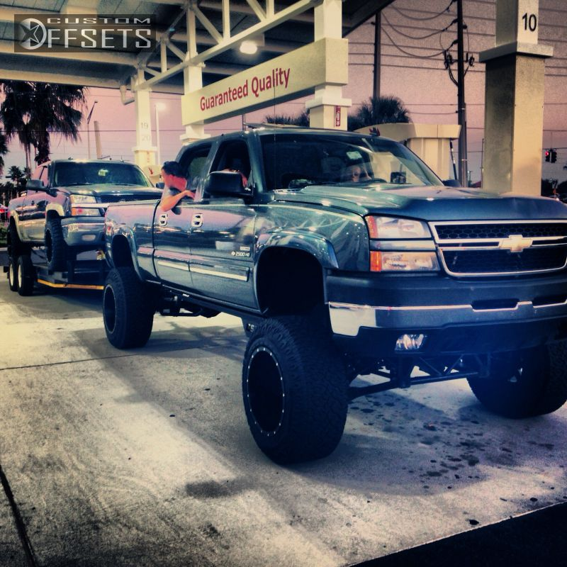 2006 Chevy Silverado 2500hd >> Wheel Offset 2006 Chevrolet Silverado 2500 Hd Super Aggressive 3 Suspension Lift 9 Custom Rims