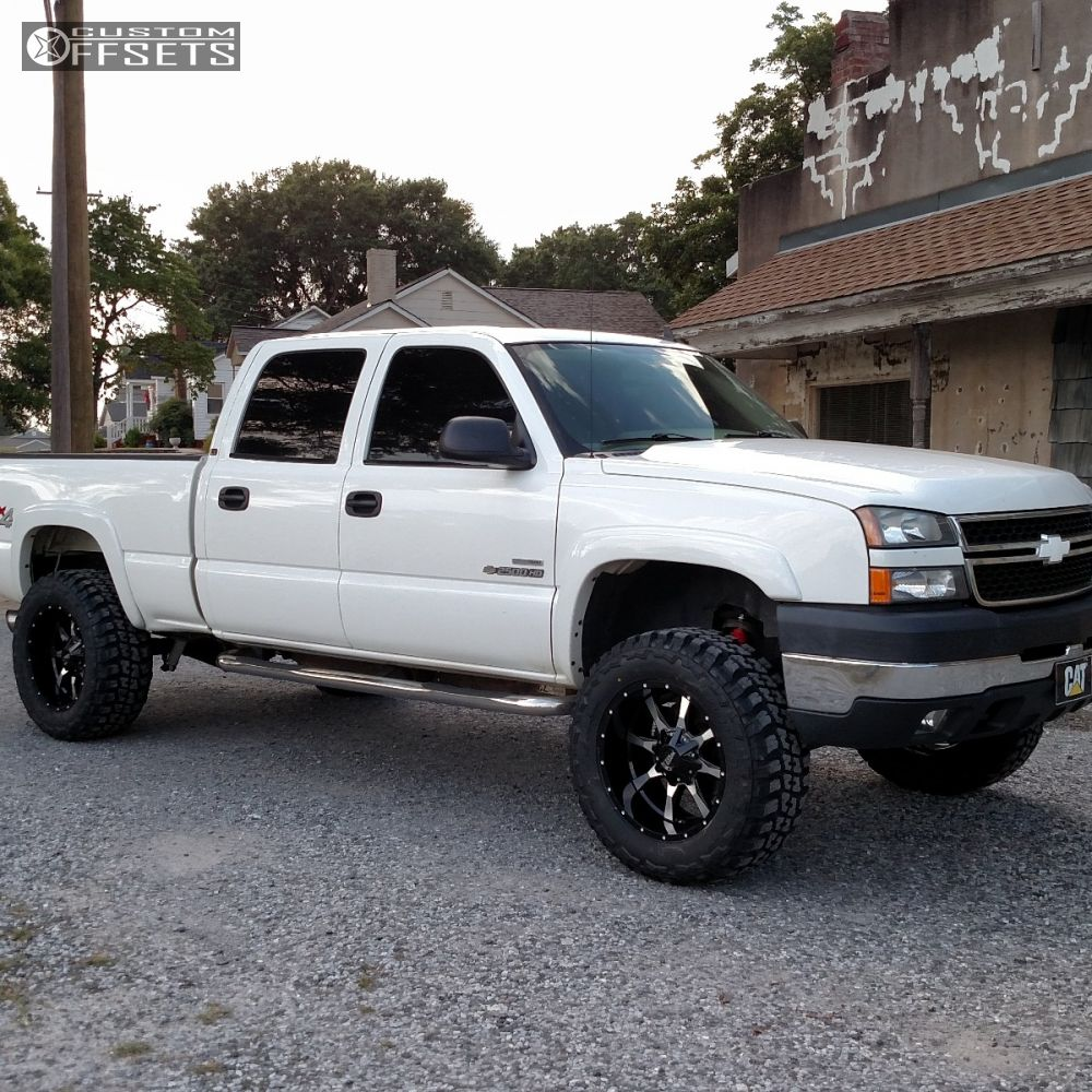 1 2006 Silverado 2500 Hd Chevrolet Suspension Lift 3 Moto Metal Mo970 Black Aggressive 1 Outside Fender