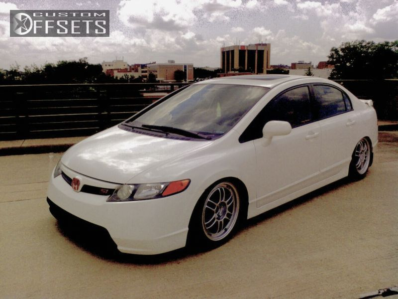 2007 honda civic enkei rpf1 lowered adj coil overs 1 2007 civic honda si 4dr sedan 20l 4cyl 6m dropped 3 enkei rpf1 silver tucked publicscrutiny Images