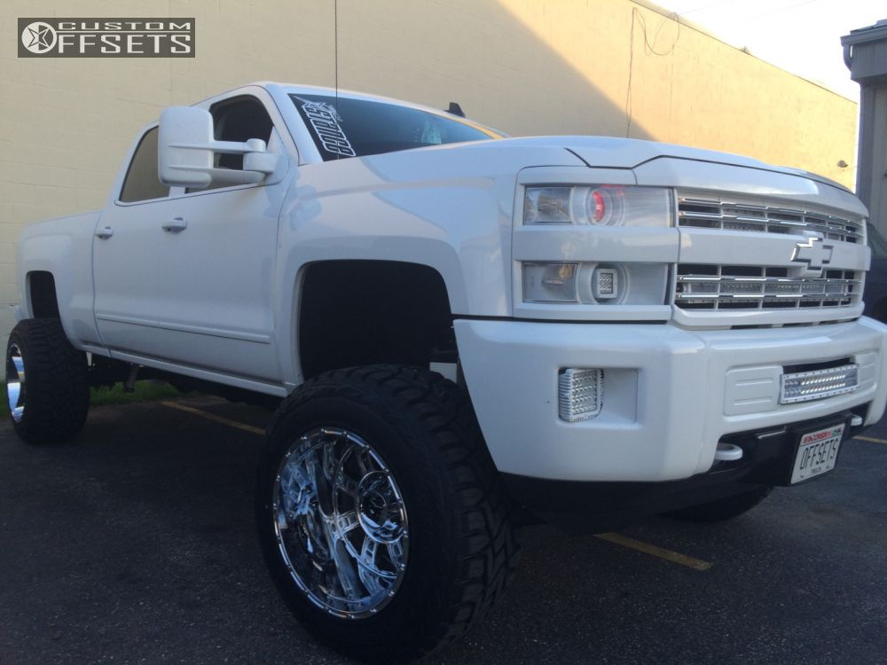 1 2015 Silverado 2500 Hd Chevrolet Suspension Lift 5 Xd Riot Chrome Hella Stance 5