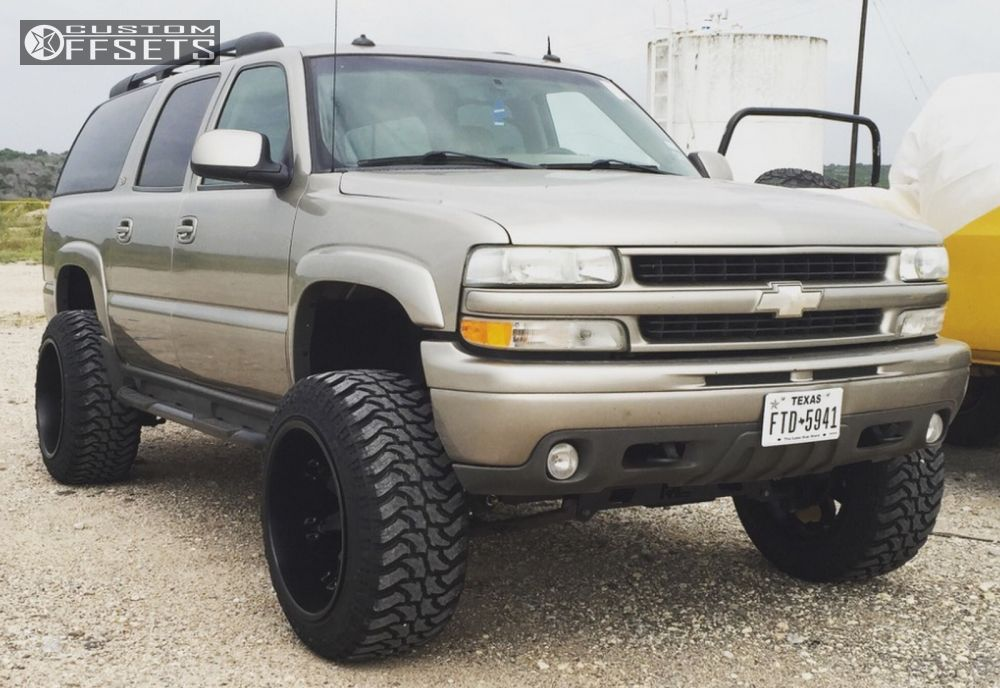 1 2003 Suburban 1500 Chevrolet Suspension Lift 6 Fuel Octanes Black Hella Stance 5