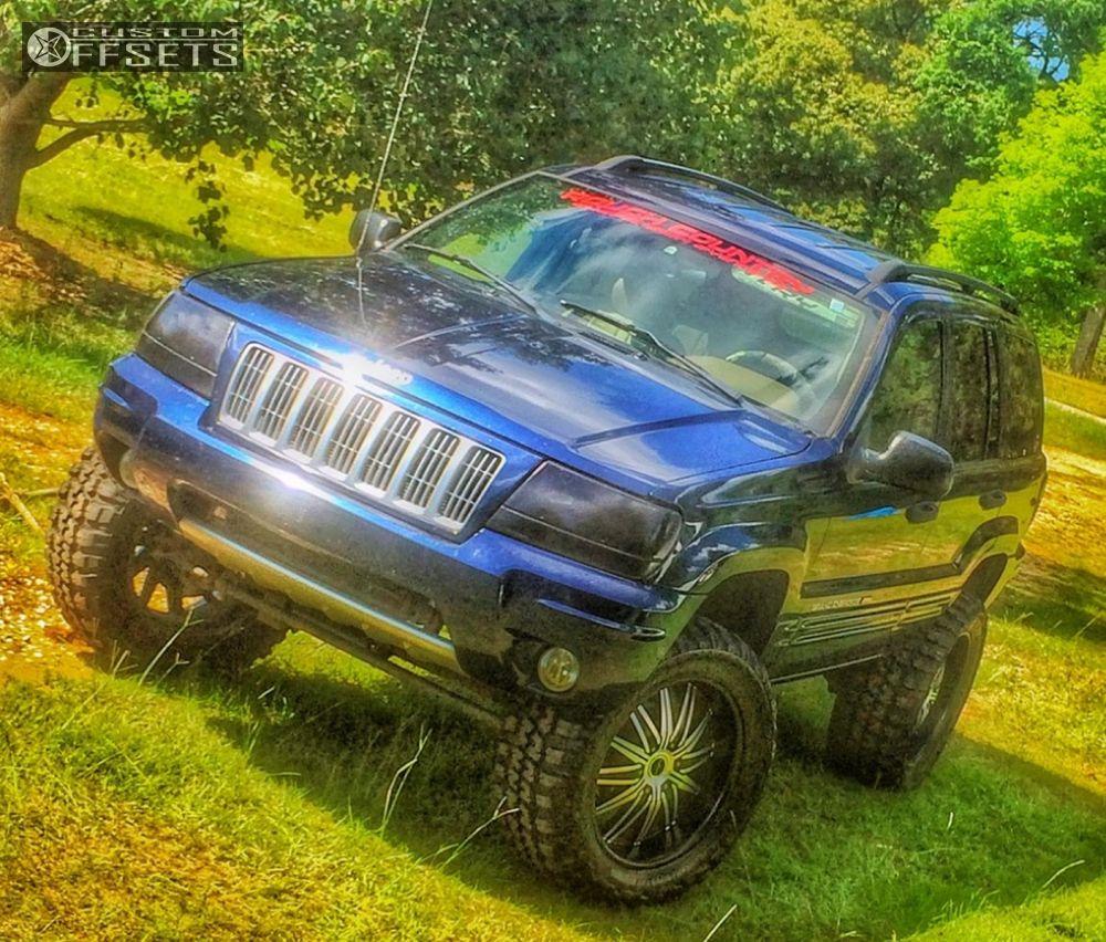 Wheel Offset 2004 Jeep Grand Cherokee Aggressive 1 Outside