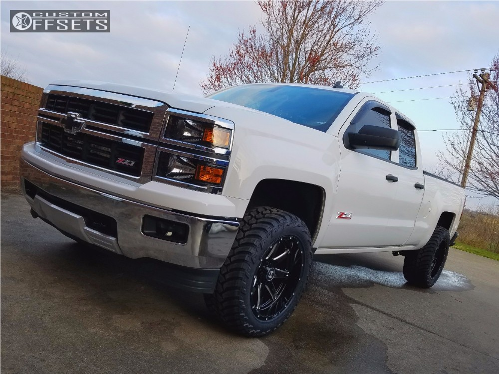 14 2014 Silverado 1500 Chevrolet Leveling Kit Hostile Alpha Black Aggressive 1 Outside Fender