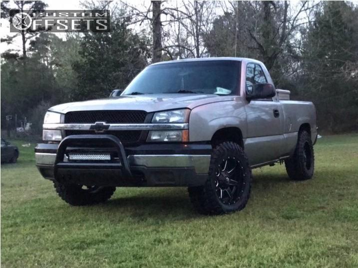 1 2003 Silverado 1500 Chevrolet Suspension Lift 3 Fuel Maverick D538 Black Slightly Aggressive