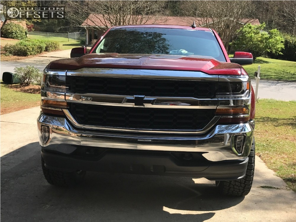 14 2016 Silverado 1500 Chevrolet Suspension Lift 25 Hostile Alpha Black Aggressive 1 Outside Fender