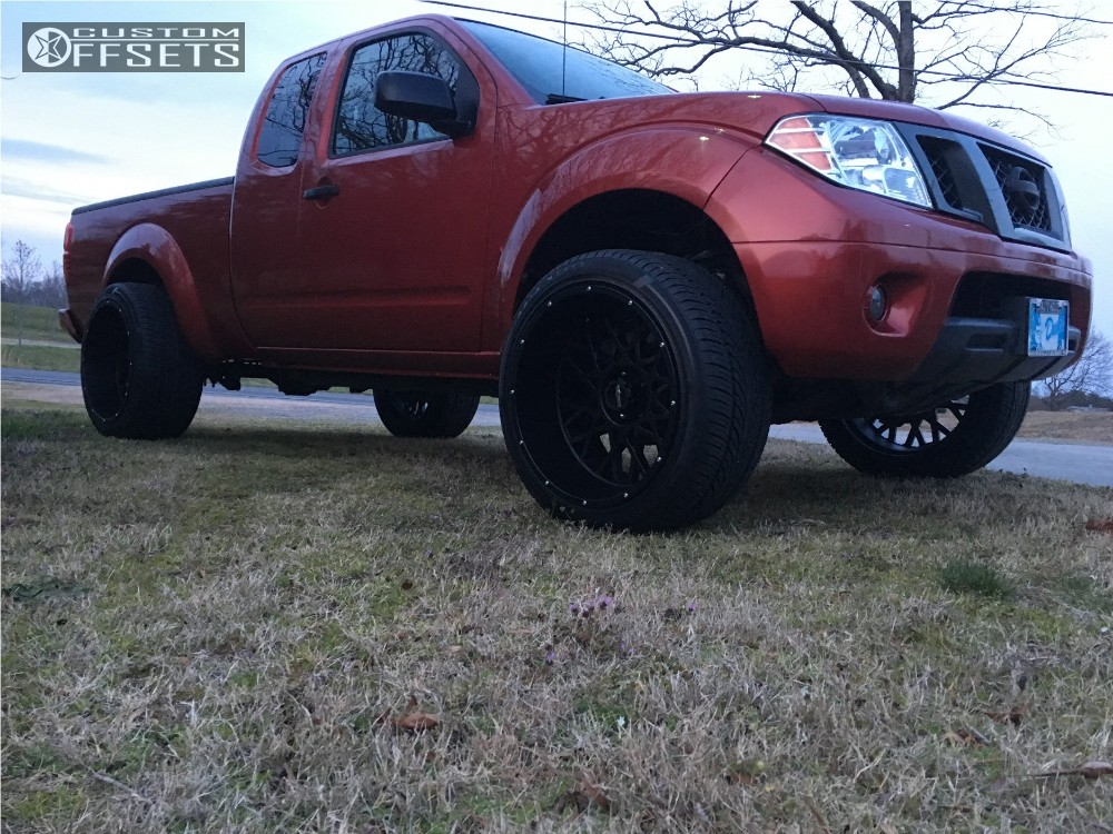 1 2012 Frontier Nissan Suspension Lift 3 Vision Rocker Black Super Aggressive 3 5
