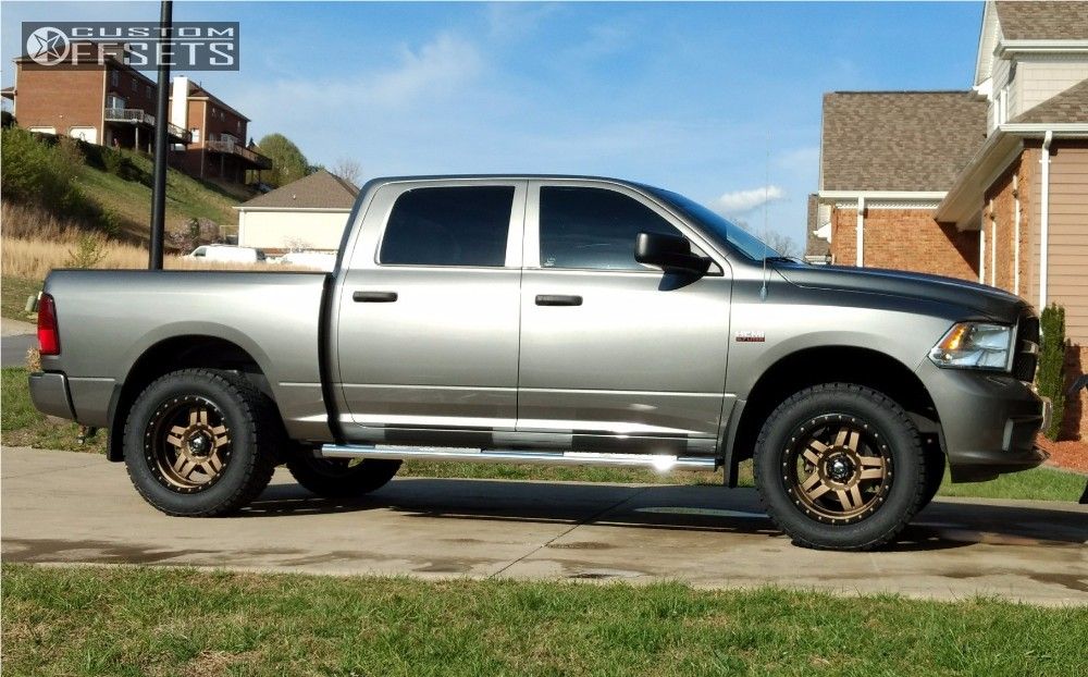 1 2013 1500 Ram Leveling Kit Fuel Anza Bronze Aggressive 1 Outside Fender