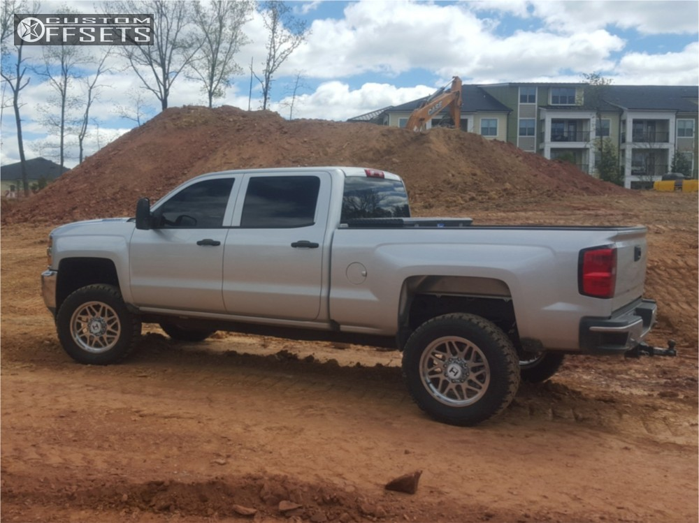 1 2016 Silverado 2500 Hd Chevrolet Suspension Lift 3 Hostile Sprocket Chrome Slightly Aggressive