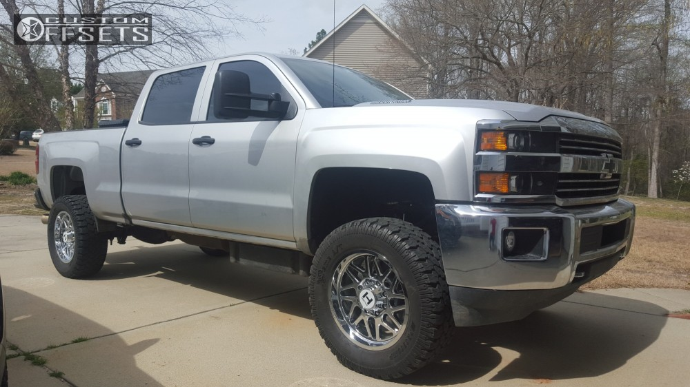 4 2016 Silverado 2500 Hd Chevrolet Suspension Lift 3 Hostile Sprocket Chrome Slightly Aggressive