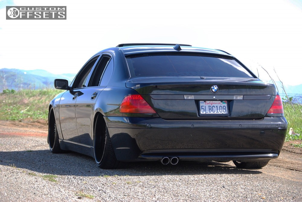 1 2004 745i Bmw Coilovers Custom One Off Wheels Black Tucked