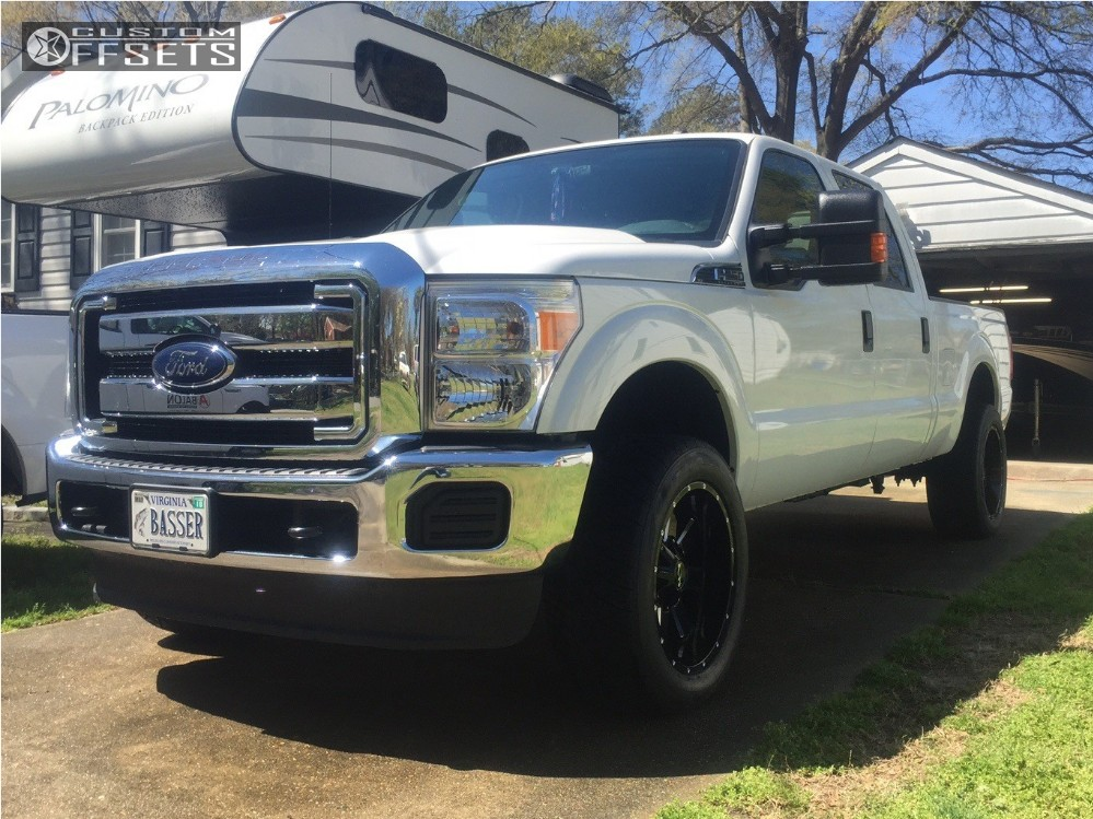 1 2016 F 250 Super Duty Ford Stock Alloy Ion Style 141 Black Aggressive 1 Outside Fender