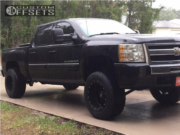 1 2009 Silverado 1500 Chevrolet Suspension Lift 4 Fuel Hostage Black Super Aggressive 3 5