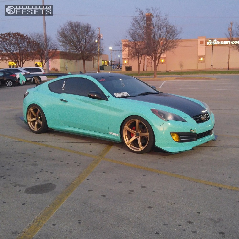 Wheel Offset 2010 Hyundai Genesis Coupe Flush Coilovers