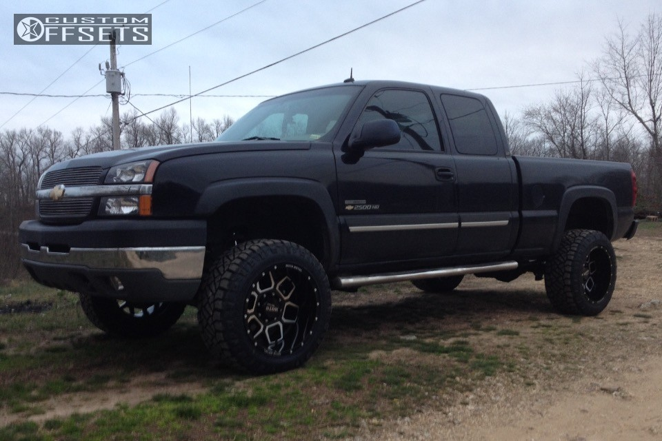 1 2003 Silverado 2500 Hd Chevrolet Suspension Lift 35 Moto Metal Mo981 Black Aggressive 1 Outside Fender
