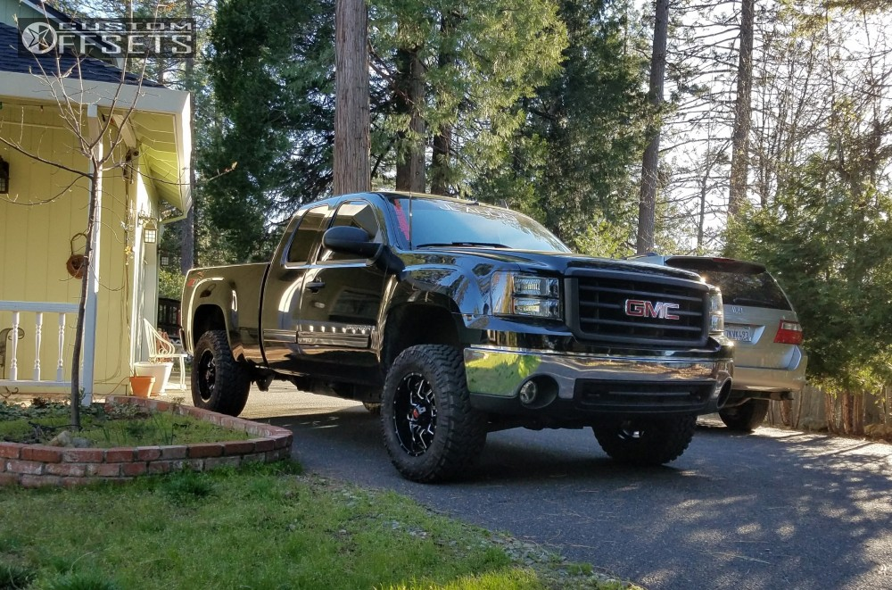 12 2008 Sierra 1500 Gmc Leveling Kit Body Lift Havok H109 Machined Black Flush