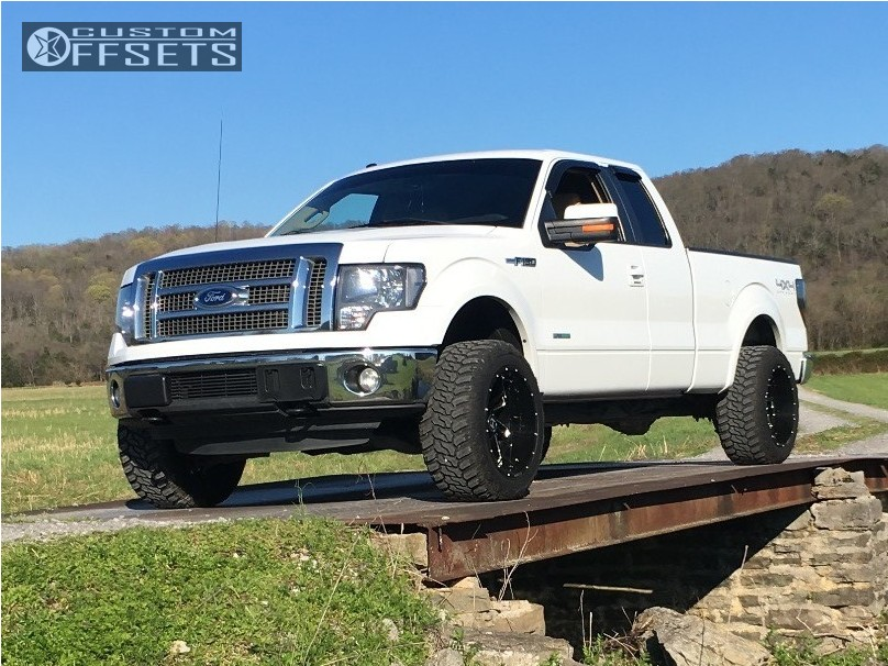 1 2011 F 150 Ford Leveling Kit Hostile Stryker Machined Black Super Aggressive 3 5