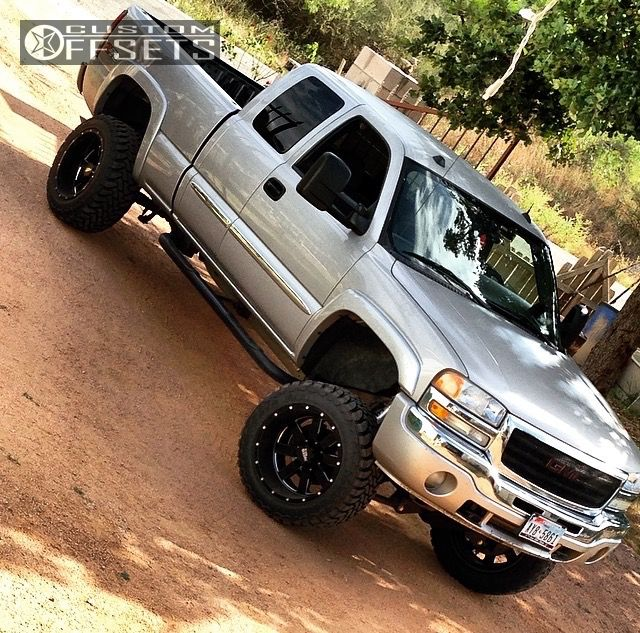 1 2005 Sierra 1500 Gmc Suspension Lift 6 Moto Metal Mo962 Machined Accents Super Aggressive 3 5