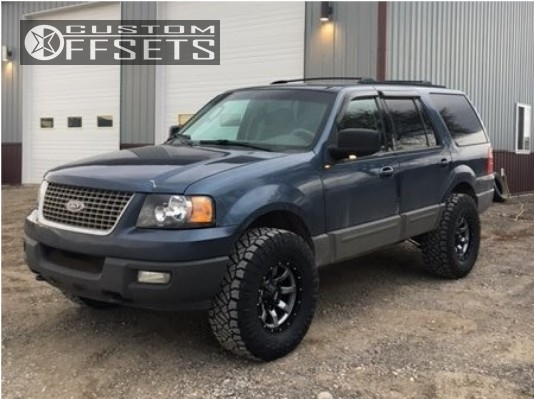 1 2003 Expedition Ford Suspension Lift 35 Moto Metal Mo970 Gunmetal Aggressive 1 Outside Fender