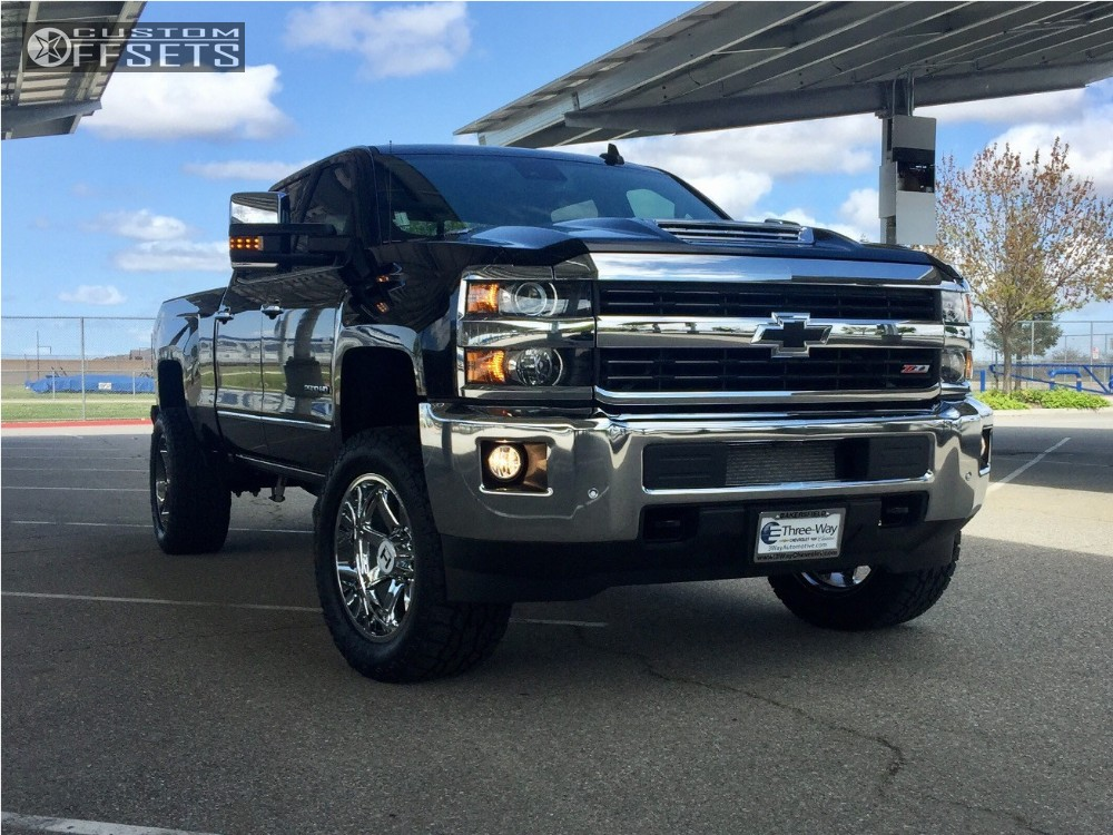 1 2017 Silverado 2500 Hd Chevrolet Leveling Kit Hostile Alpha Chrome Aggressive 1 Outside Fender