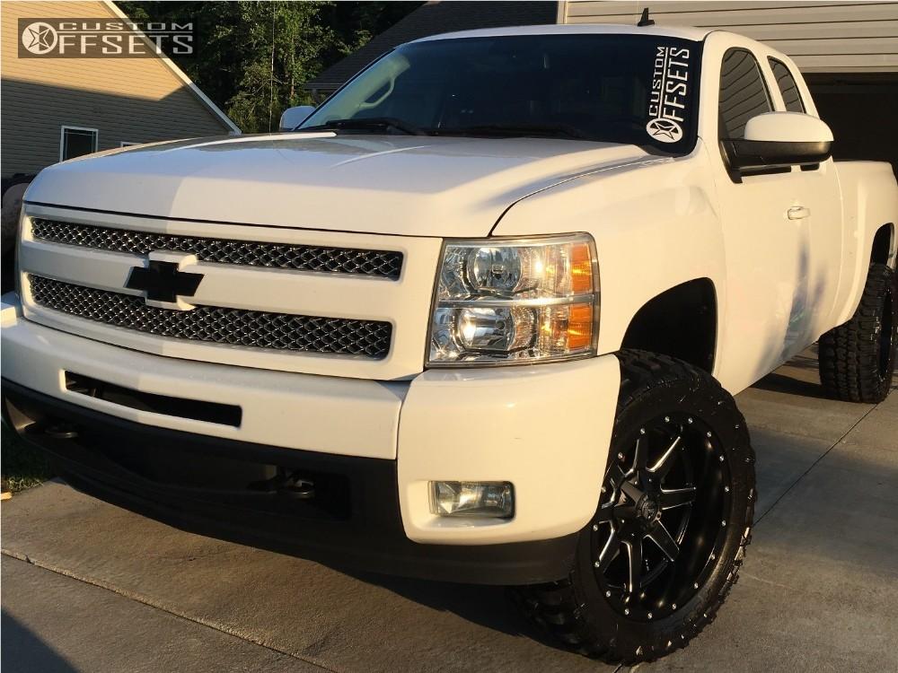 1 2011 Silverado 1500 Chevrolet Suspension Lift 4 Fuel Maverick Black Aggressive 1 Outside Fender