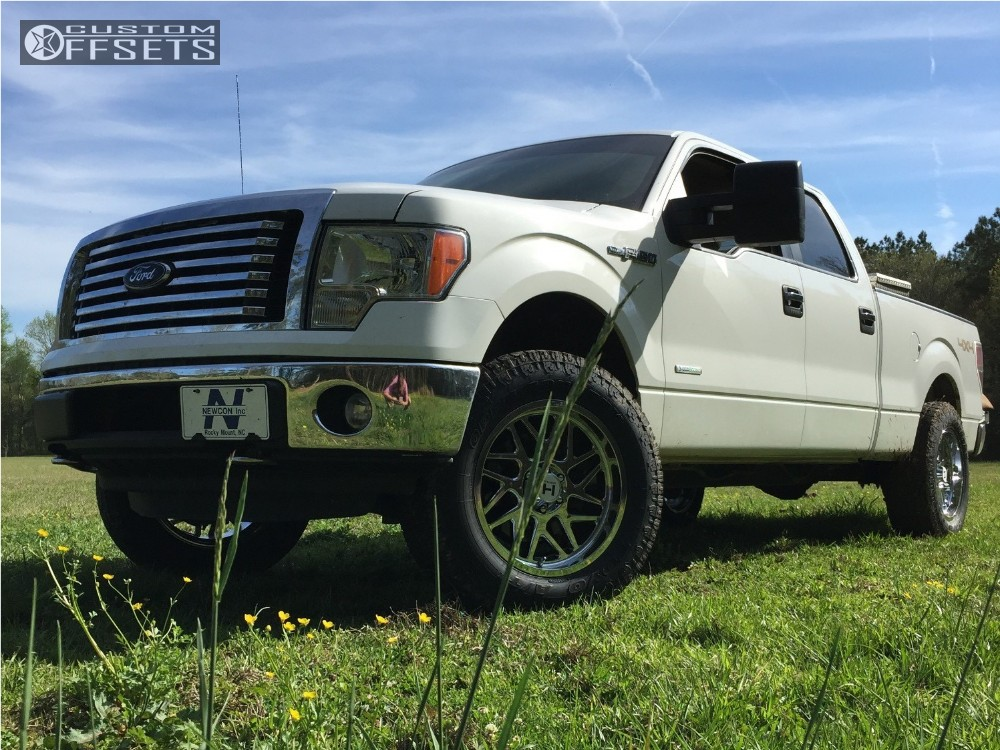 1 2012 F 150 Ford Leveling Kit Hostile Sprocket Chrome Slightly Aggressive