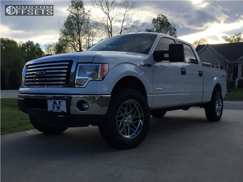 13 2012 F 150 Ford Leveling Kit Hostile Sprocket Chrome Slightly Aggressive