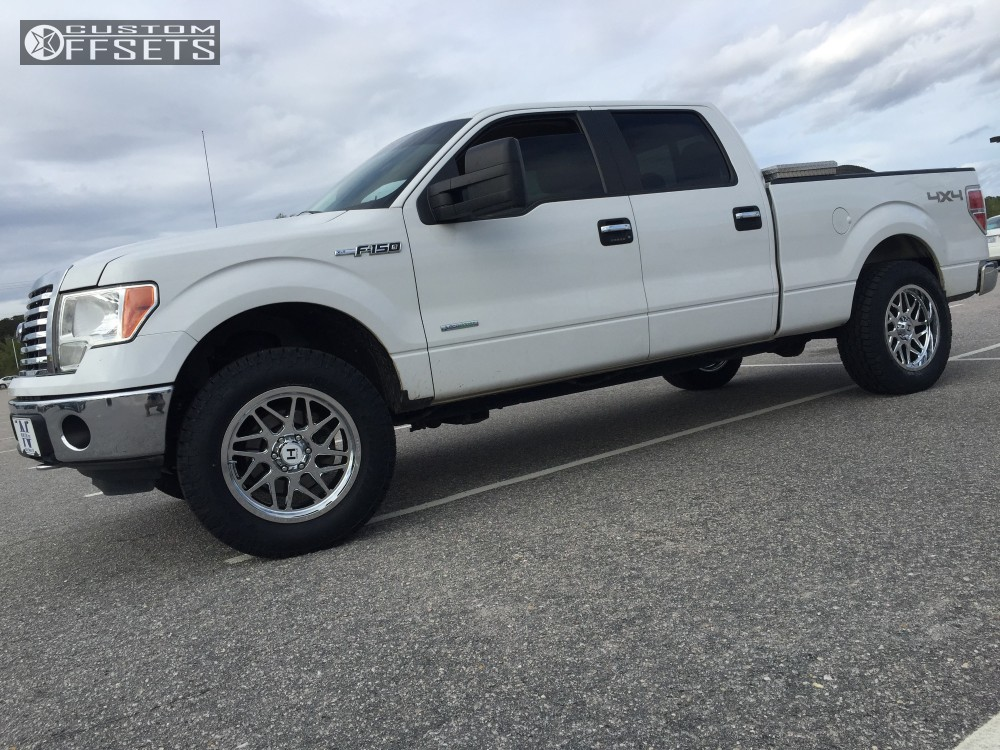 14 2012 F 150 Ford Leveling Kit Hostile Sprocket Chrome Slightly Aggressive