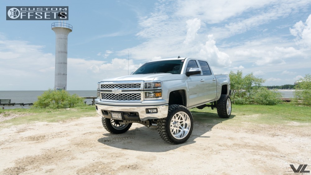 15 2014 Silverado 1500 Chevrolet Full Throttle Suspension Lift 9in American Force Trax Ss Polished