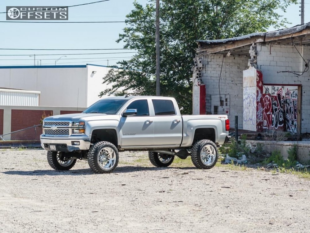 16 2014 Silverado 1500 Chevrolet Full Throttle Suspension Lift 9in American Force Trax Ss Polished