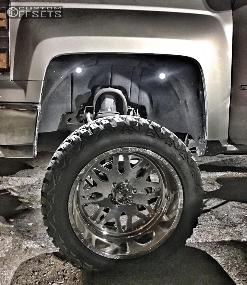 8 2014 Silverado 1500 Chevrolet Suspension Lift 9 American Force Trax Ss8 Polished Super Aggressive 3 5