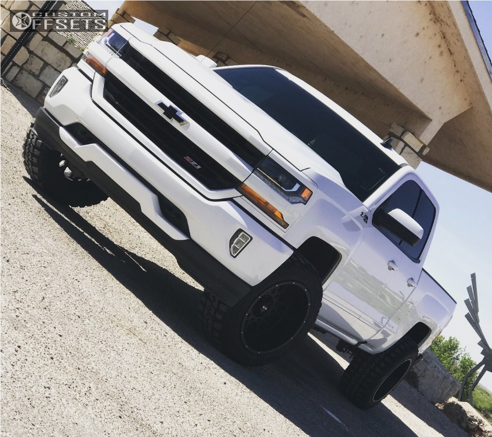 1 2016 Silverado 1500 Chevrolet Level 2 Drop Rear Black Vision Rocker Other Black Super Aggressive 3 5