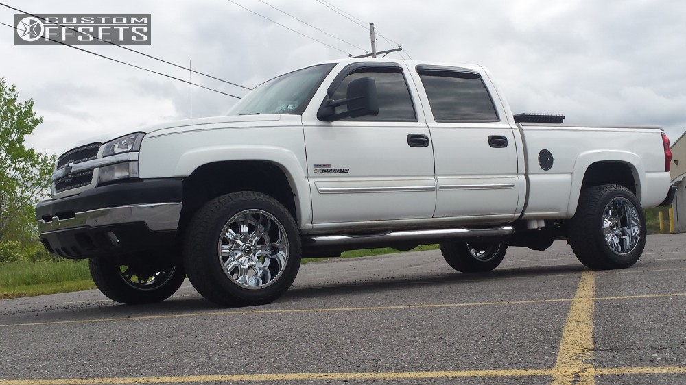 4 2003 Silverado 2500 Hd Chevrolet Stock Tis 535c Chrome Super Aggressive 3 5