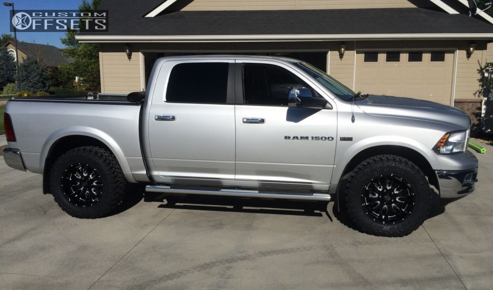 gallery fuel slightly lift offset ram dodge wheel maverick black aggressive suspension